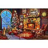 olwonow 1000 Piezas de Rompecabezas súper Claro para Adultos 75x50 cm Chimenea Decorada navideña Juguete de Ejercicio de Pensamiento lógico