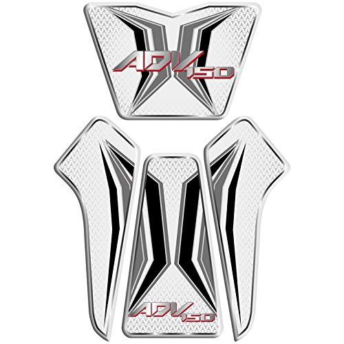 LIWIN-バイクアクセサリー ホンダADV150前売150タンクパッドデカールプロテクターのためのオートバイの3Dジェル燃料タンクデカールタンクサイドプロテクターレーシングキットステッカー (Color : 01)