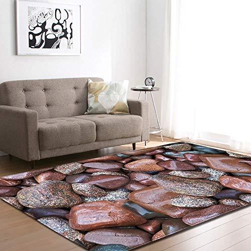 LYDB Rug Runner tapijten, antislip, absorberend steenpatroon, indoormat voor keuken, slaapkamer, kantoor, vloermat, wasmachine, 3,63×48inch