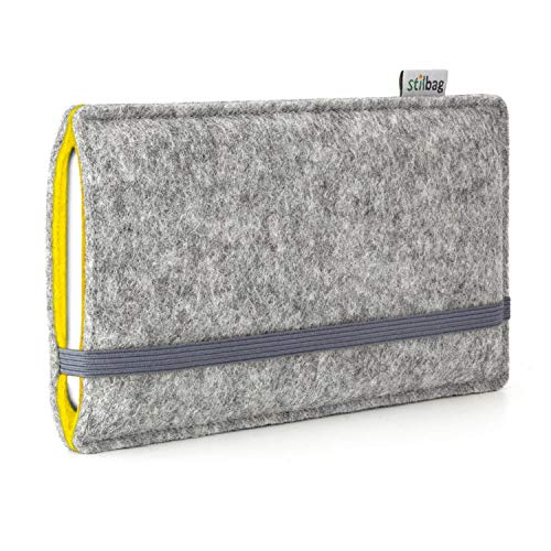 stilbag Funda de Fieltro 'Finn' para Huawei Ascend P7 - Color: Gris/Amarillo