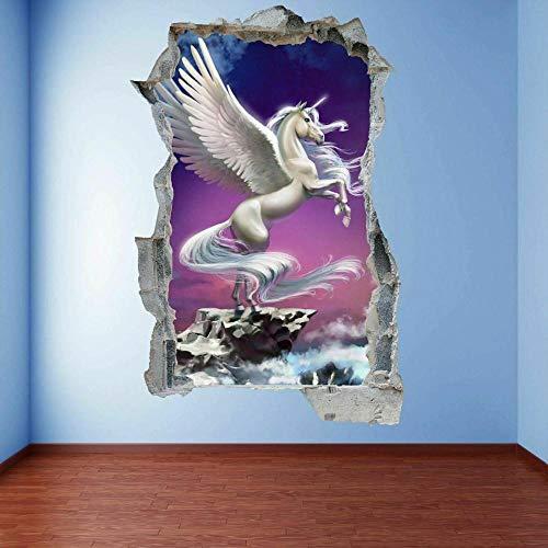HUGF Pegatinas de pared Fairy Cuento Etiqueta de la pared Mural Calcomanía Niños Dormitorio Decoración para el hogar A8