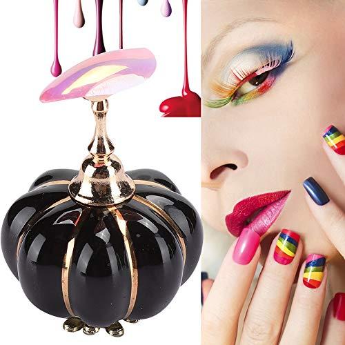 Présentoir de pratique d'art d'ongle, affichage professionnel de vernis à ongles d'art montrant l'étagère magnétique manucure pratique conseils outil de support pour salon(Noir)