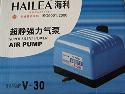 Aquarline Hailea V-30 High Output Pond/Aquarium Air Pump, 1800 Liter/Hour