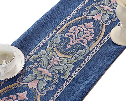 Buy and buy at Brandon Chinese Simple Table Flag Modern Garden Tablecloth Coffee Table Cloth Table Mat Bed Flag Bed TowelDeep Blue32*210