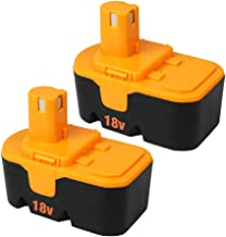 2Pack 3600mAh Ryobi 18V Battery Replacement for Ryobi P100 P101 ABP1801 ABP1803 BPP1820 130224028 130224007 Compatible with Ryobi ONE+ Cordless Tool