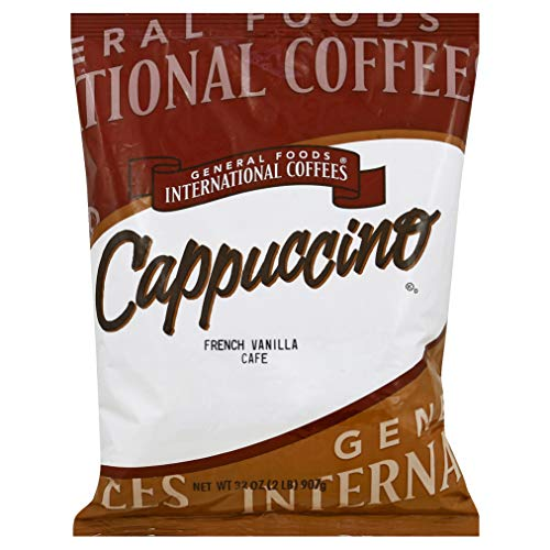 General Foods French Vanilla Cappuccino Bulk Powder (2lb Bags, Pack of 6)