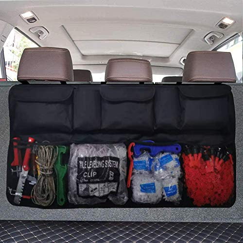 Car Trunk Organizer, Backseat Hanging Organizer with 9 Large Storage Bag -Trunk Organizer for SUV,Truck,Van-Free Your Trunk Space (Car Trunk Organizer 9bag)