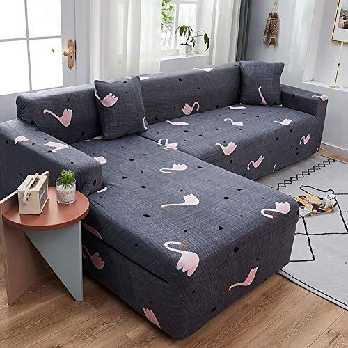 Funda de Sofá elásticas para Sofá con Cojín 1/2/3/4,Fundas de sofá fácil de usar con funda de almohada,protector de muebles elástico suave para mascotas(Rojo)(Color:L2,Size:4-Seat(235-300cm))