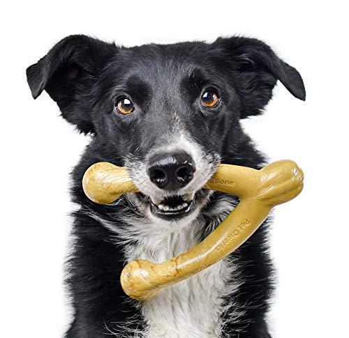 Pet Qwerks Wish BarkBone Dog Chew Toy, Peanut Butter Flavor, Medium