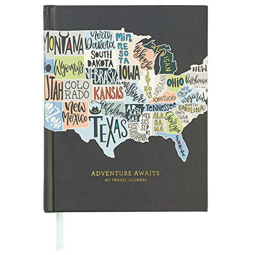 C.R. Gibson ''Adventures Awaits'' Travel Journal and Guided Planner, 6.5'' W x 8'' L, 200 Pages