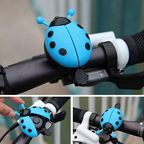 Fahrrad Fahrrad Marienkäfer Bell Ride Alarm für Kinder Blue Pink Tool Schöner Käfer - Blau