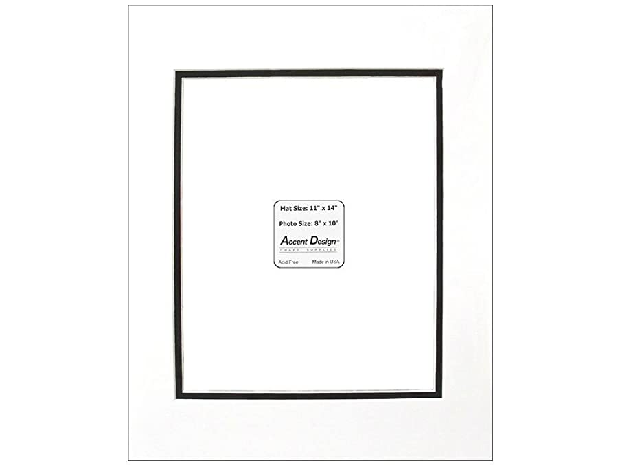 PA Framing, Specialty Double Mat, 11 x 14 inches - White Core and Black Inner?