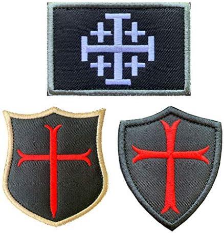 Crusader cross patch