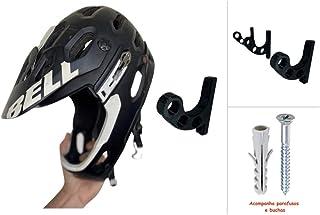 Kit com 3 unidades Suporte de Parede Para Pendurar Capacetes e Acessórios (preto)