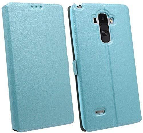 ENERGMiX Buchtasche kompatibel mit LG G4 Stylus (H635) Hülle Hülle Tasche Wallet BookStyle mit Standfunktion in Blau