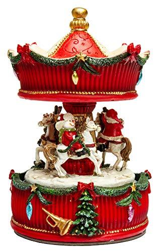 SIKORA SD08 Spieldose Spieluhr für Weihnachten Pferde Karussell Musik We Wish You a Merry Christmas