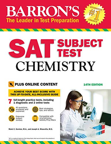 SAT Subject Test: Chemistry with Online Tests: With Bonus Online Tests (Barrons Sat Subject Test)