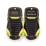 MAROL Elastische Silikon Schnürsenkel – Ohne Binden – Silikonschnürsenkel – Schnürsenkelersatz, Schleifenlose Schuhbänder – Gummischnürsenkel für alle Schuhe – Kinder & Erwachsene (Schwarz)