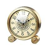 Wyxy Reloj De Mesa Reloj De Mesa De Un Solo Lado, Adornos De Reloj De Latón Y Números Arábigos Reloj De Mesa, Reloj De Mesa Creativo con Pilas
