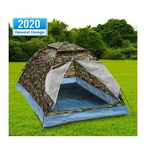 1-2 Personne Camping Tente Double Simple Couche Camouflage en Plein Air Portable Randonnée Étanche Sac Transport Voyage