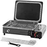 CAPTURE Outdoor SuperCook Duo, barbecue a gas portatile e plancha, Hakan GP-2.2', 2200, ..