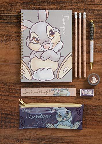 Disney Thumper Schreibwaren-Set, Notizbuch und Kugelschreiber-Set, Partygeschenk, Strumpffüller, Mehrfarbig