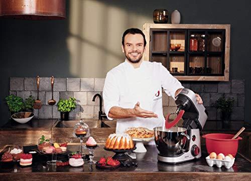 Krups Premium Küchenmaschine 17 teilig, 4,6L Edelstahlschüssel, Silikonschüssel, 4 Rührwerkzeuge Edelstahl, spülmaschinenfest, 1100W, Schnitzelwerk, Fleischwolf, Gratis Rezepte und 12er Cupcake Form - 11