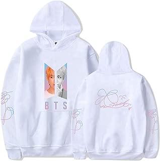 Kpop BTS Hoodie Love Yourself Hooded Jungkook Suga V Jimin J-Hope Unisex Long Sleeve Pullover Jacket Sweatshirt