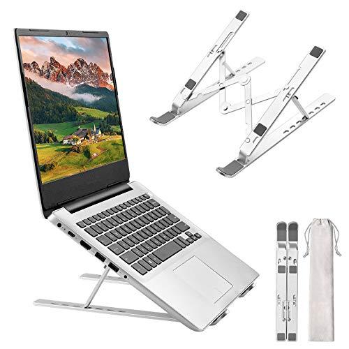 GuKKK Soporte Portatil Mesa, Laptop Stand 7 Ángulos Ajustables, Aluminio Soporte Ordenador...