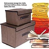 Caja de almacenamiento plegable organizador 2 piezas/juego con cubierta para ropa libros juguetes...