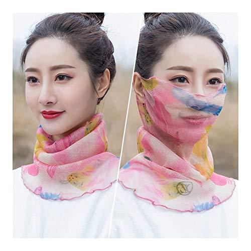 QXX Variedad de Tejido en Hilo Pañuelos Orejas Colgantes Velo Cuello Protección de la Cara de la Bufanda (Color : D)