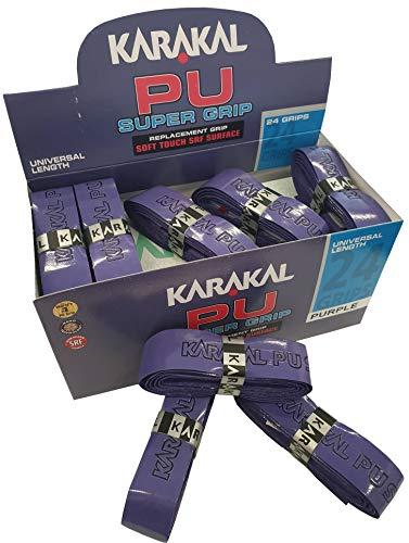 Karakal - PU Super Grip - Nastro Adesivo Antiscivolo per Badminton, Squash, Tennis, Mazze da Hockey o Curling - 6 PCS - Viola