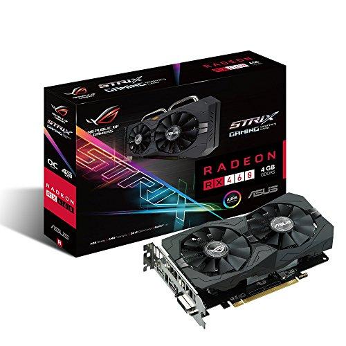 ASUS STRIX-RX460-O4G-GAMING AMD Radeon RX 460 4GB Graphics Card - Graphics Cards (Active, AMD, Radeon RX 460, GDDR5, PCI Express 3.0, 5120 x 2880 Pixel)