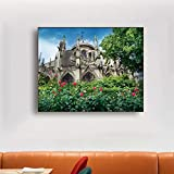 LPaWD Catedral de París en Francia Pintura de Lienzo Carteles e Impresiones nórdicos clásicos Cuadros de Pared para Artista de Pared Mural Decorativo para el hogar A2 60x80cm