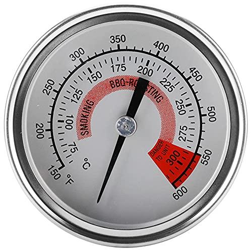 EastMetal Termómetro Parrilla de Acero Inoxidable Horno, Horno BBQ Indicador de Parrilla Indicador de Temperatura Alta Precisión 75-300 ℃ / 150-600 ℉, Parrilla Reemplaza Las Herramientas Integradas