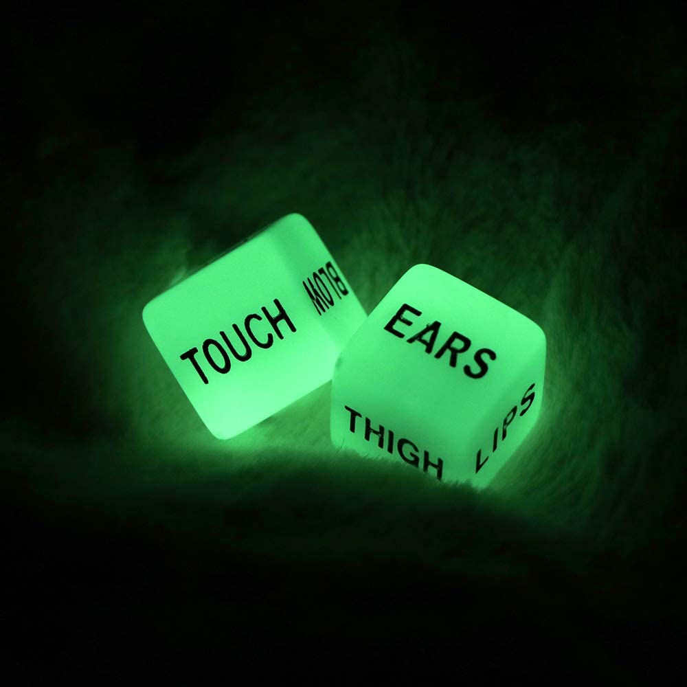 Cheap Tendlife Love Dice Resin Couple safety Lovers Luminous Games in Glow Da
