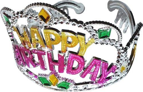 Diadème de fête Inscription en anglais Happy Birthday