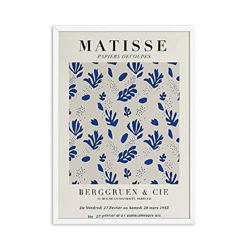 Henri Matisse carteles e impresiones retro retrato abstracto arte de la pared lienzo pintura decorativa sin marco para el hogar C 20x30cm