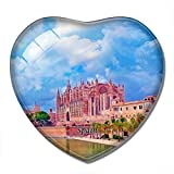 'N/A' España Imán España Palma Mallorca Catedral Imán de Nevera 3D Artesanía Recuerdo Cristal Refrigerador Imanes Colección Regalo de Viaje