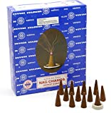 Satya Sai Baba Nag Champa Coni di incenso, confezione da 48, 12 boites