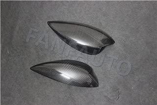 Hlyjoon 1Pair Car Carbon Fiber Headlight Headlamp Eyebrow Eyelids Cover Front Trim Decoration Styling Lid for Impreza WRX STI 2008 2009 2010 2011