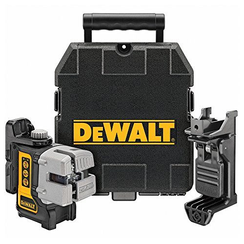 DEWALT DW089K-XJ 3 Way Self Levelling Multi Line Laser, Red, Black/Yellow
