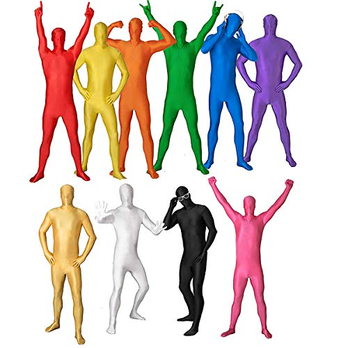 Antybaby Unisex Halloween Second Skin Zentai Ganzkörper Kostüm Body Strumpfhose Anzug Invisible Performance Kostüme