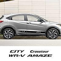 ホンダフィットパスポートリッジラインSTEPWGN STREAM AMAZE BRIO BR-V CITY CROSSTOUR WR-Vオートアクセサリー用2個車ドアサイドステッカー