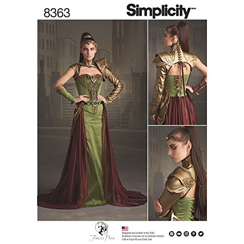 Simplicity 8363 Women's Fantasy Elf Ranger Halloween and Cosplay Costume Sewing Pattern, Sizes 6-14