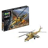 Revell- Mil Mi-24D Hind Maqueta Helicóptero,10+ Años, Multicolor, 19,4 cm de Largo (04951)