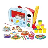 Binory Play-Toys Kids DIY Simulated Microwave Oven with Kitchen Fake Food Cooking Tools Set and 6 Pack Magic Wheat Mud,Great Entertainment Pretend Toy Birthday Gift for Children 3 and Older