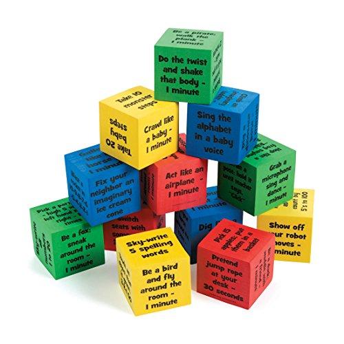 Brain Break Activity Dice Set - Classroom School Supplies - 12 per Pack - from Fun365