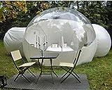 INFLATELINES Tienda de Burbujas para Acampar al Aire Libre Inflable (3/4/5m) con Dos túneles de 2m y soplador