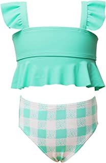 Maydear Swimsuits for Girls Swimwear for Girls Bathing Suits for Toddler - Blue